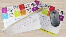 Le tapis de souris calendrier promotionnel par 12M