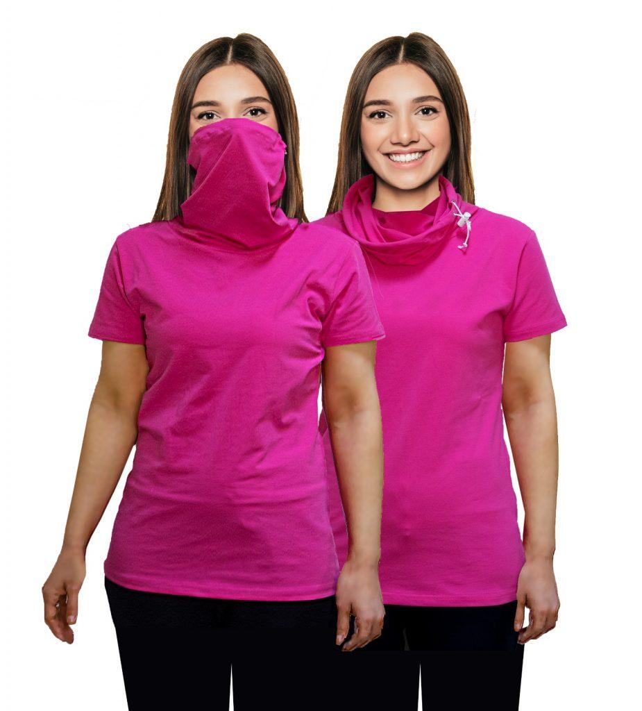 t-shirt avec masque intégré murat tekstil femme